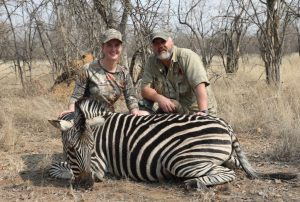 Trophy hunting a zebra