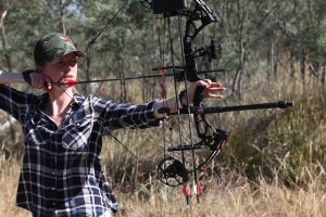 Jess shooting bow