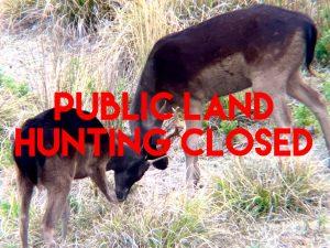 Public land hunting closed